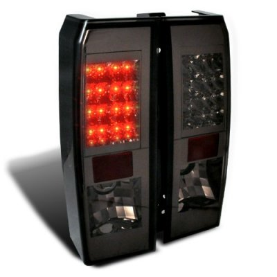 Hummer H3 2006 2009 Smoked Led Tail Lights A122218s109