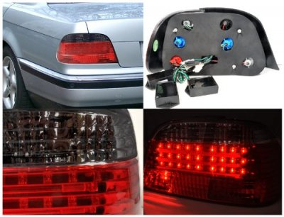 BMW 7 Series 1995-2001 LED Tail Lights Red and Clear