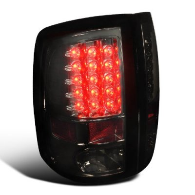Dodge Ram 3500 2010-2013 Smoked LED Tail Lights
