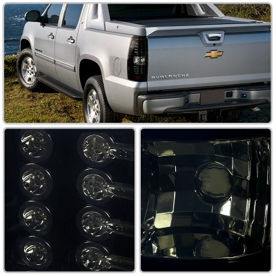 Used Chevy Avalanche >> Chevy Avalanche 2007-2013 LED Tail Lights Black Smoked ...