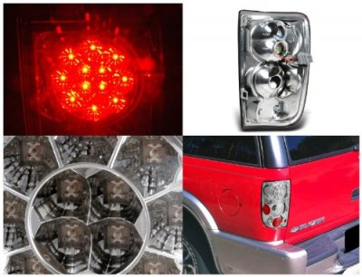 GMC Envoy 1998-2000 Clear LED Tail Lights