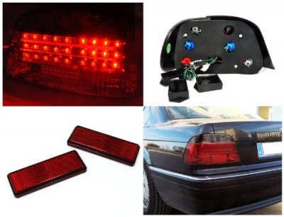 BMW 7 Series 1995-2001 LED Tail Lights Red and Smoked