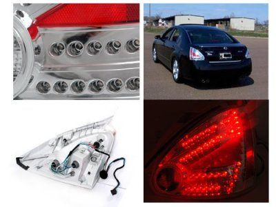Nissan Maxima 2004 2008 Chrome Led Tail Lights