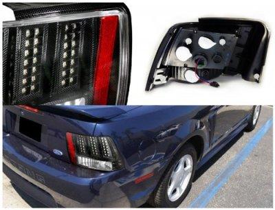 1999 ford mustang led tail lights carbon fiber. Black Bedroom Furniture Sets. Home Design Ideas