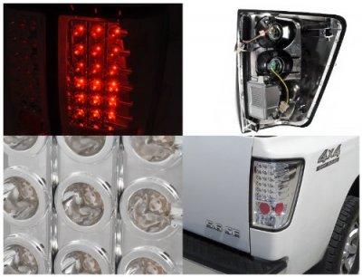 ... Nissan Titan 2004 2012 Clear LED Tail Lights