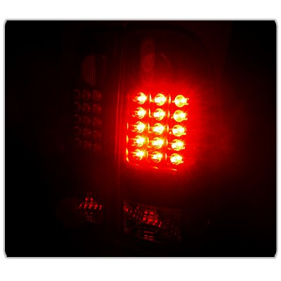 Ford F150 1997-2003 Black LED Tail Lights