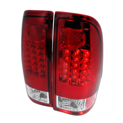ford f250 super duty 1999 2007 red and clear led tail. Black Bedroom Furniture Sets. Home Design Ideas