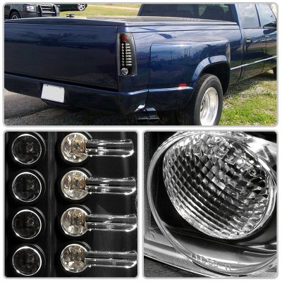 Cadillac Escalade 1999-2000 Black LED Tail Lights