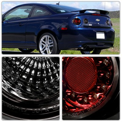 Chevy Cobalt Coupe 2005-2010 Red and Smoked LED Tail Lights