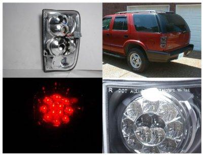 GMC Envoy 1998-2000 Smoked LED Tail Lights