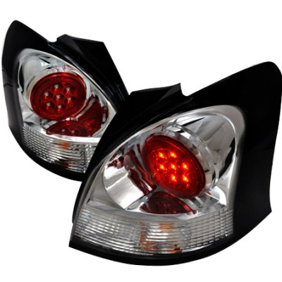 Toyota Yaris Hatchback 2007 2008 Clear Led Tail Lights