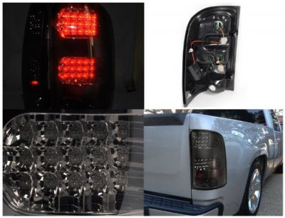 Gmc Sierra Denali 2008 2013 Smoked Led Tail Lights