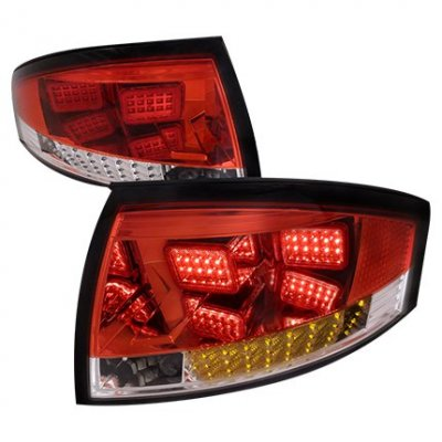 Audi TT 1999-2006 Red and Clear LED Tail Lights