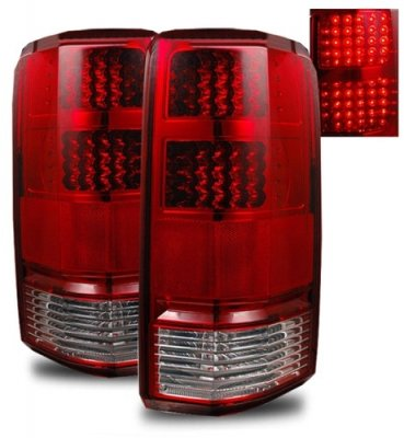 Jeep Wrangler Fog Lights >> Dodge Nitro 2007-2012 Red and Clear LED Tail Lights | A132V3V8109 - TopGearAutosport