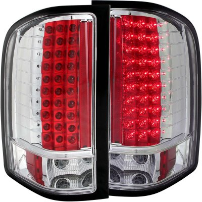 chevy silverado 2500hd 2007 2013 led tail lights chrome. Black Bedroom Furniture Sets. Home Design Ideas