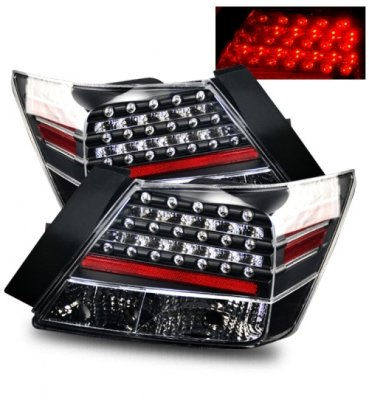 Honda Accord Sedan 2008 2012 Led Tail Lights Black
