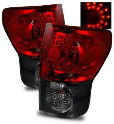 Toyota Tundra 2007-2013 LED Tail Lights Red and Black