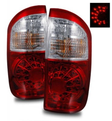 Toyota Tundra Double Cab 2004-2006 LED Tail Lights Red and Clear