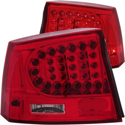 dodge charger 2006 2008 red led tail lights a132o8n4109. Black Bedroom Furniture Sets. Home Design Ideas