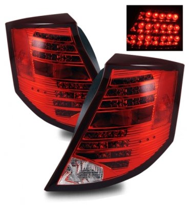 Saturn lon Sedan 2003-2007 LED Tail Lights Red and Clear