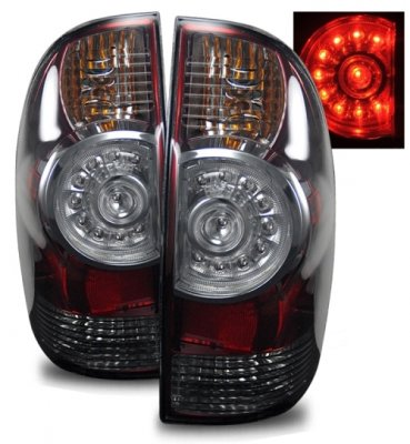 toyota tacoma 2009 2010 led tail lights red and smoked. Black Bedroom Furniture Sets. Home Design Ideas