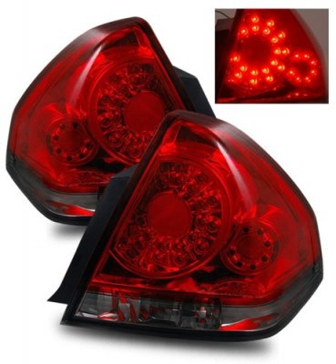Chevy Impala 2006-2013 Red and Smoked LED Tail Lights