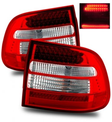 Porsche Cayenne 2003-2006 LED Tail Lights Red and Clear