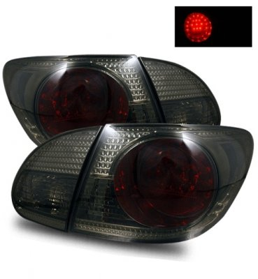 2007 Toyota Corolla LED Tail Lights Smoked