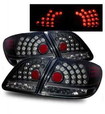 Lexus ES300 2002-2004 Black LED Tail Lights | A132A4A9109 ...