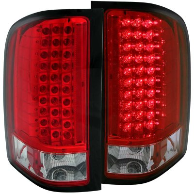 Chevy Silverado 2500hd 2007 2014 Led Tail Lights Red And Clear A132sexj109 Topgearautosport