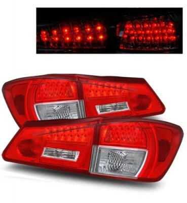Lexus IS250 2006-2008 Red and Clear LED Tail Lights