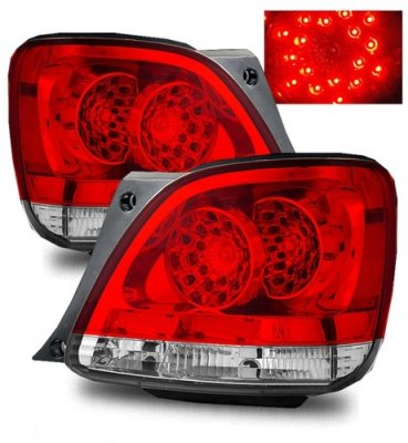 Lexus GS430 2001-2005 Red and Clear LED Tail Lights