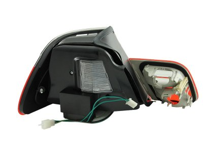 BMW 3 Series Convertible 2000-2003 Red and Clear LED Tail Lights