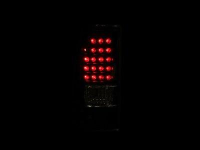 GMC Sierra 1999-2006 LED Tail Lights Black