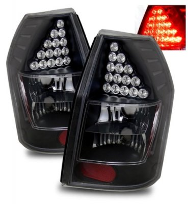 Dodge Magnum 2005 2008 Black Led Tail Lights A132usrf109