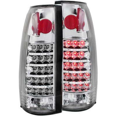 Chevy Tahoe 1995-1999 LED Tail Lights Chrome Housing