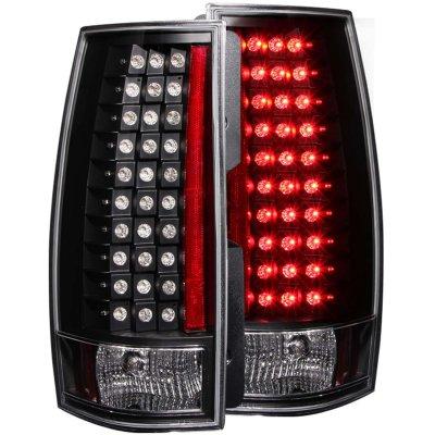 GMC Yukon 2007-2013 Black LED Tail Lights