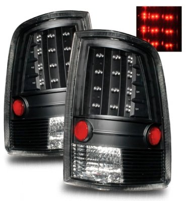 Dodge Ram 3500 2010-2015 LED Tail Lights Black