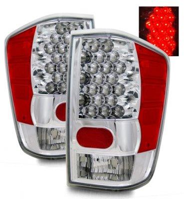 Nissan Titan 2004-2012 LED Tail Lights Chrome