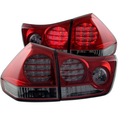 Lexus Rx350 2004 2009 Red And Smoked Led Tail Lights