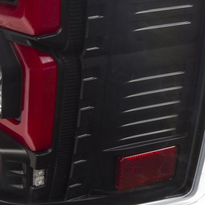 Chevy Silverado 2500HD 2007-2014 Custom LED Tail Lights Black Red