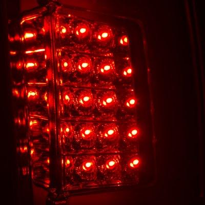 Chevy Silverado 2500HD 2007-2014 Custom LED Tail Lights Black Red