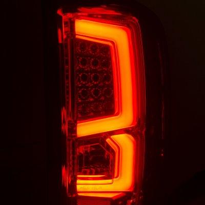 Chevy Silverado 2500HD 2007-2014 Custom LED Tail Lights Red Smoked