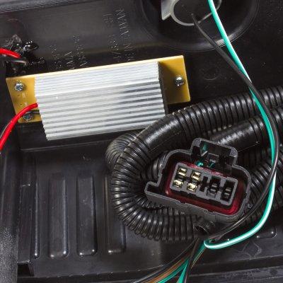 Chevy Silverado 2500HD 2007-2014 Custom LED Tail Lights Smoked