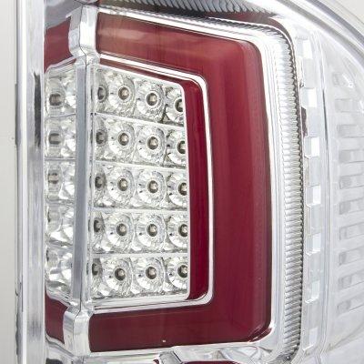 Chevy Silverado 2500HD 2007-2014 Custom LED Tail Lights Chrome Red