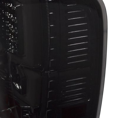 Chevy Silverado 2500HD 2007-2014 Custom LED Tail Lights Smoked