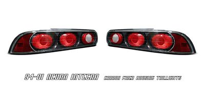 Acura Integra Coupe Carbon Fiber Altezza Tail Lights - 1999 acura integra tail lights