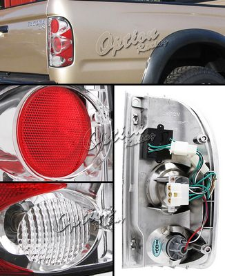 Toyota Tacoma 1995-2000 Clear Altezza Tail Lights