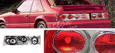 Ford Mustang 1987-1993 Chrome Altezza Tail Lights