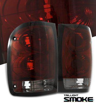 Ford Ranger 1993-2000 Red and Smoked Tail Lights
